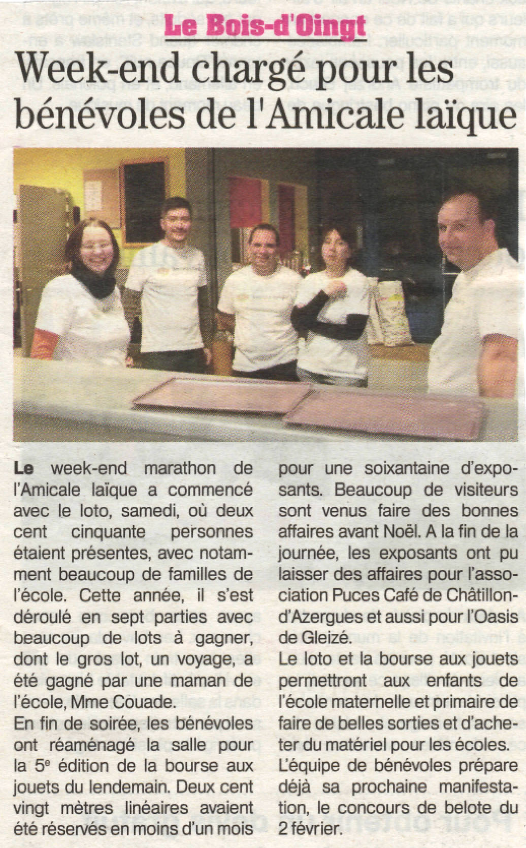 Article Patriote loto et BAJ 2013