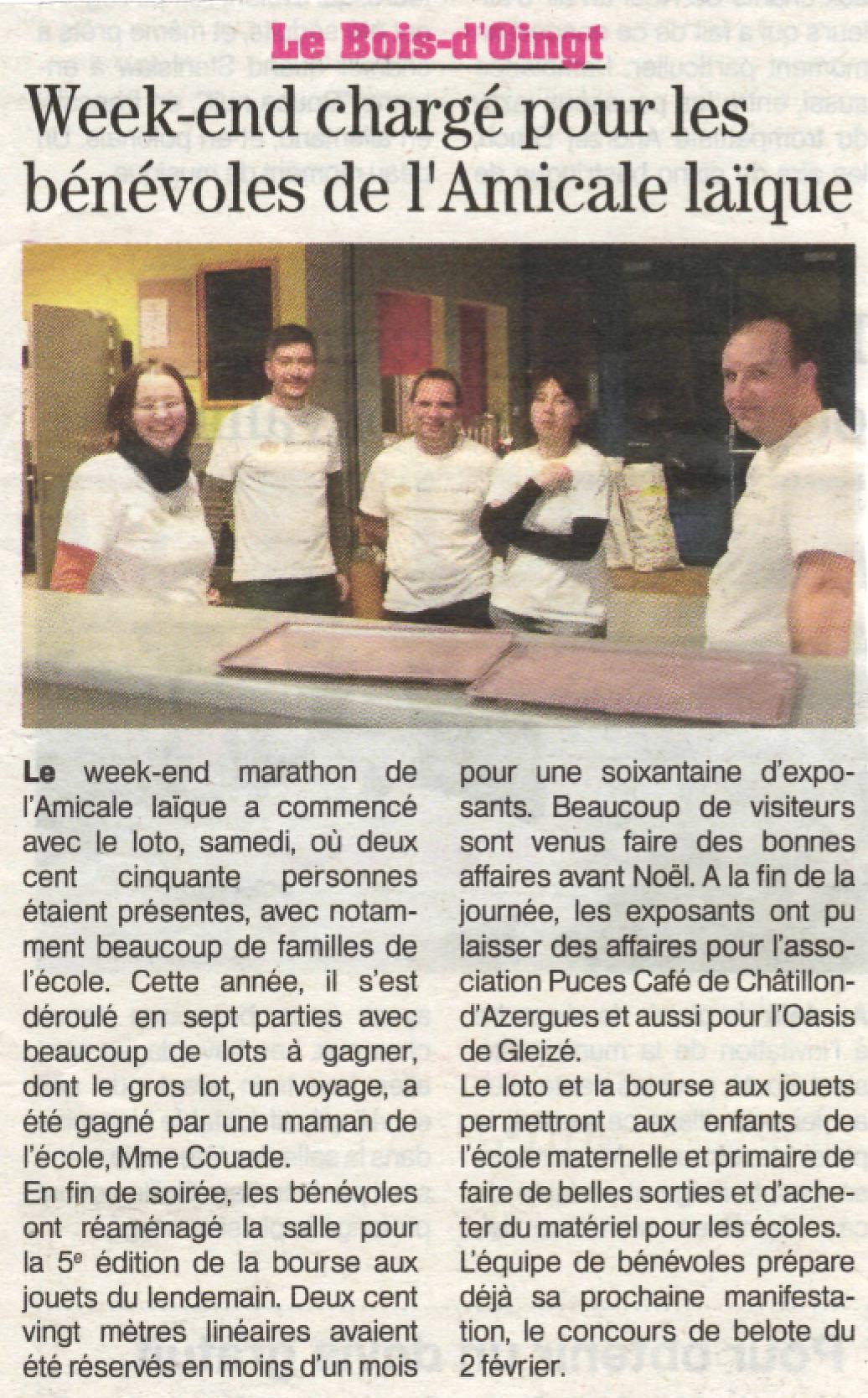 Article Patriote loto et BAJ 2013